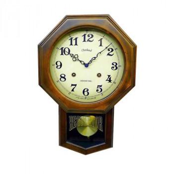 アンティーク電波振り子時計(8角型) DQL624