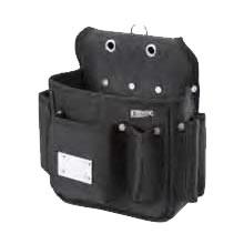 基陽 超軽量ウエストバッグ 内ポケット&磁石付 232K ブラック