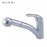 三栄水栓 SANEI シングルワンホールスプレー混合栓 K8760JV-C-13C
