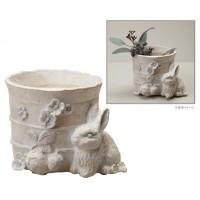 セトクラフト SCZ-1752 3号ガーデンポット(ウサギ) Nature Garden