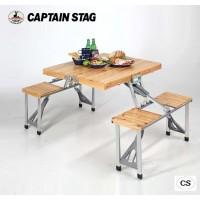 CAPTAIN STAG NEWシダー 杉製ピクニックテーブル(ナチュラル) UC-0003