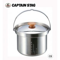 CAPTAIN STAG 3層鋼 段付ライスクッカー(5合) UH-4001