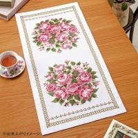 オリムパス クロス・ステッチししゅうキット 美しい花たち テーブルセンター スウィートローズ 1195(白)