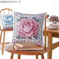 オリムパス クロス・ステッチししゅうキット 美しい花たち クッション レッドローズ 6057(オフホワイト)