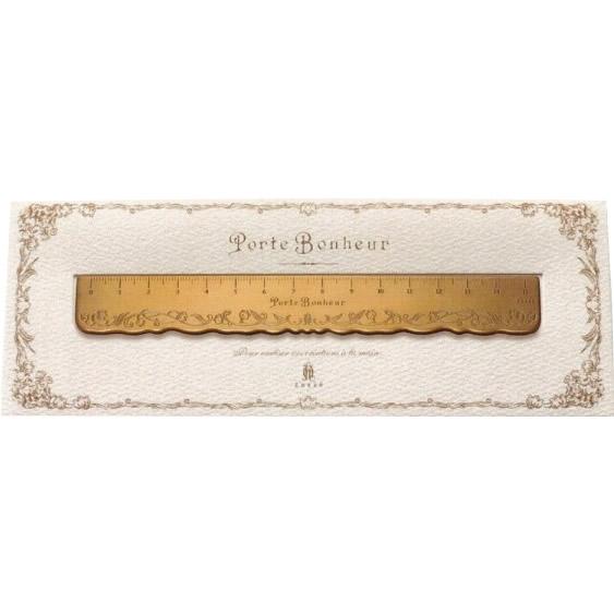 クロバー Porte Bonheur(ポルトボヌール)すずらん真鍮定規 15cm 79-597
