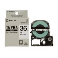 キングジム テプラ PRO テープカートリッジ・白ラベル黒文字 36mm SS36K