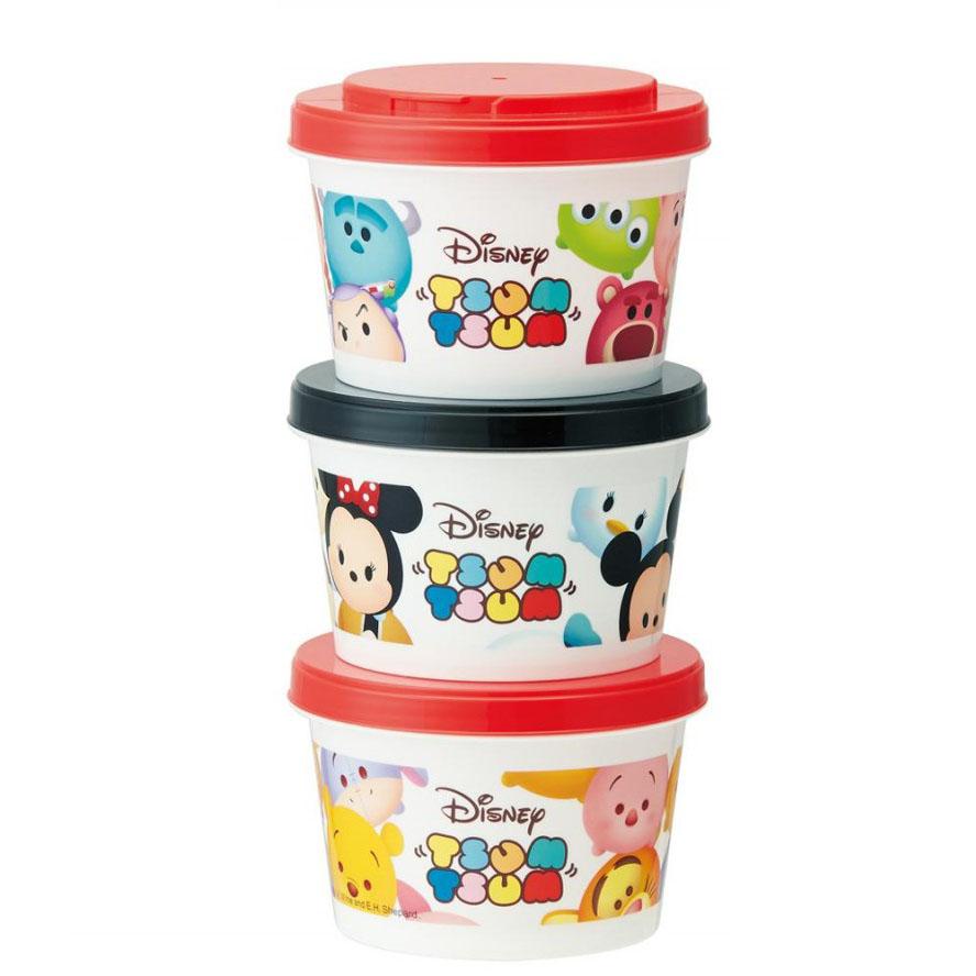 pos.294648 Disney ツムツム 薄肉保存容器3Pセット SIJ3