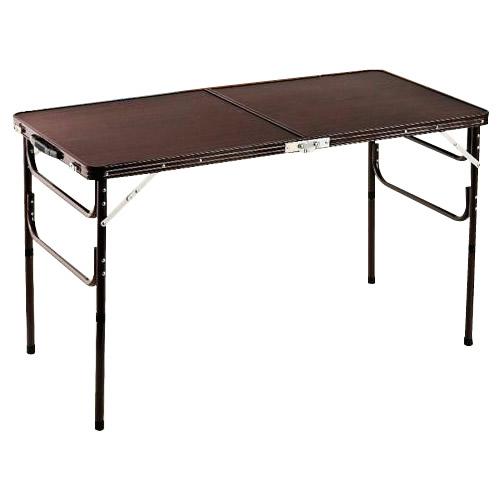 木目調軽量折りたたみアルミテーブル 120cm ZH-347