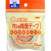 KAWAGUCHI(カワグチ) 布用両面テープ 透明 幅15mm 10m巻 94-004