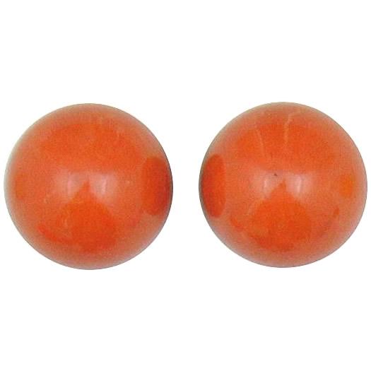 クラフト社 レザークラフト用 口金2寸5分櫛型(31309-07)用 飾り玉 2個入×2セット 31310-02 サンゴ色