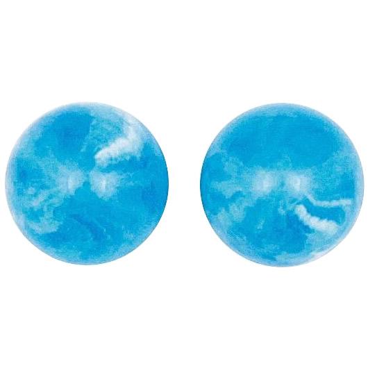 クラフト社 レザークラフト用 口金2寸5分櫛型(31309-07)用 飾り玉 2個入×2セット 31310-07 ブルーペクトライト色