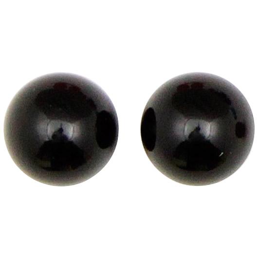クラフト社 レザークラフト用 口金2寸5分櫛型(31309-07)用 飾り玉 2個入×2セット 31310-09 黒