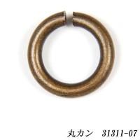 クラフト社 レザークラフト用 丸カン AT(アンティーク調メッキ)  内径φ6mm 10個入×5セット 31311-07