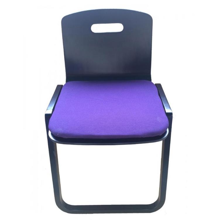鈴木木工所 背もたれつき本堂用椅子曲足 黒