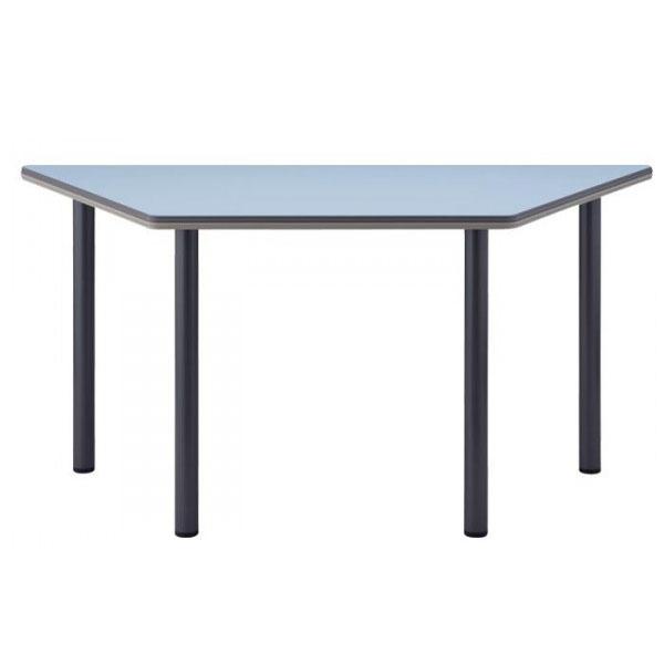 4本脚テーブル  台形 TCS-1500 150×65×70cm シルバー脚 天板柄・ローズ