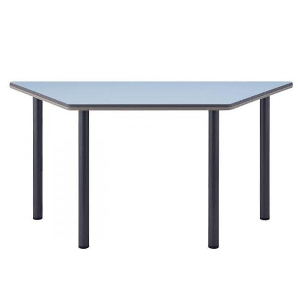 4本脚テーブル  台形 TCB-1500 150×65×70cm チャコールグレー脚 天板柄・ローズ
