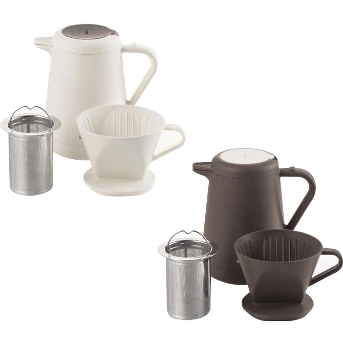 パール金属 ieカフェ 保温ティー&コーヒーポット620ml ホワイト・HB-1074