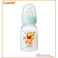 Combi(コンビ) テテオ 哺乳びん ポリプロピレン製m100ml 母乳・ミルクトレーニング用Sサイズ乳首付 くまのプーさん
