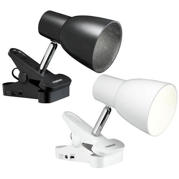 YAZAWA(ヤザワ) 乾電池LEDクリップライト 3W・白色 ブラック・Y07CLLE03W04BK