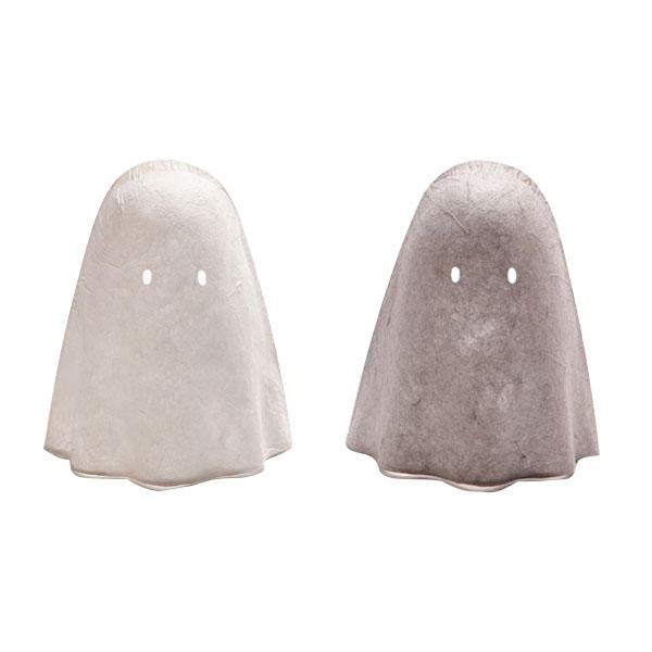 日本製 Fores 林工芸 手漉き美濃和紙 フットライト OBAKE LIGHT (オバケライト) ホワイト・KYH001