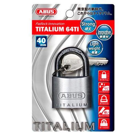 ABUS(アバス) TITALIUM南京錠 40mm 3本キー BP64TI40KD 00721289