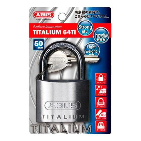 ABUS(アバス) TITALIUM南京錠 50mm 3本キー BP64TI50KD 00721291
