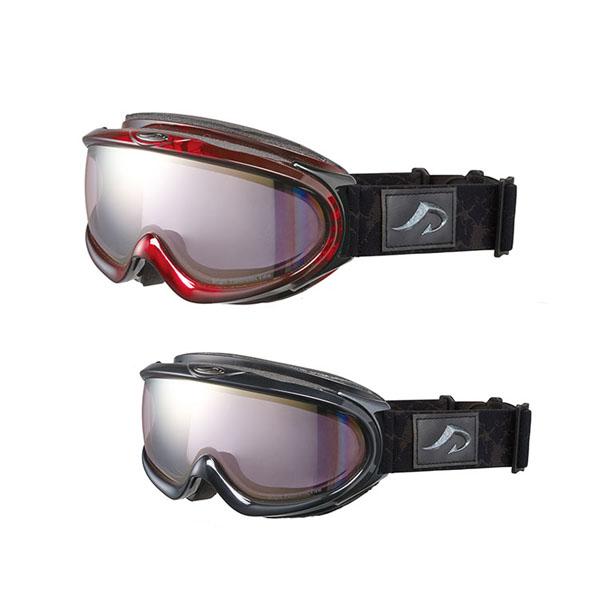 AXE(アックス) メンズ 大型メガネ対応 ダブルレンズ ゴーグル AX888-WPK RE・マーブルレッド