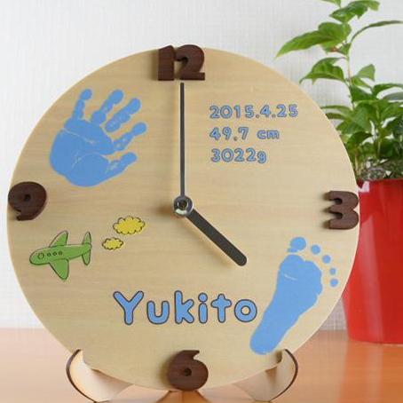 ベビーメモリアル・出産祝い 木製メモリアルタイム 手足型 お仕立券タイプ