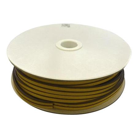 光 (HIKARI) 戸当り防音クッションテープ粘着付茶M型 4×18mm KM4-50W   50m