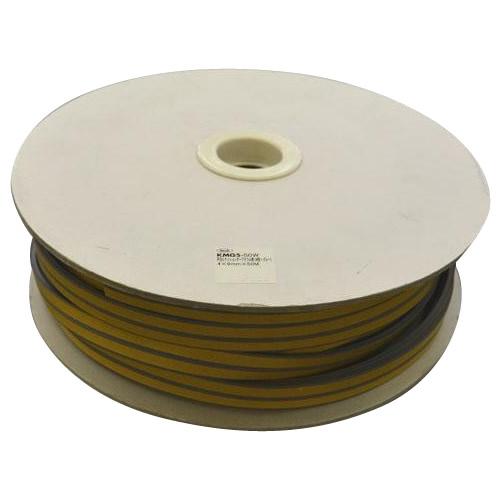 光 (HIKARI) 戸当り防音クッションテープ粘着付グレーP型5.5×18mm KPG6-50W   50m