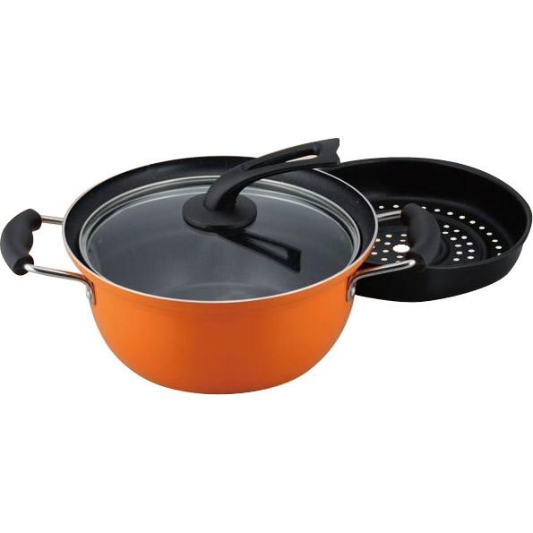 ゆでマーロ IH対応蒸し料理鍋24cm YR-7689