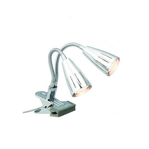 YAZAWA(ヤザワコーポレーション) ミニレフランプ付き ツインクリップライト 30w 2灯 クローム Y07CFW30X02CH