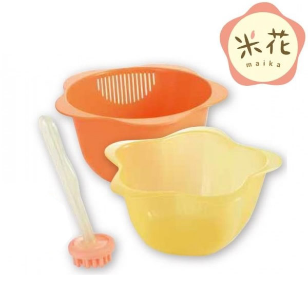 米とぎボウルザル 米花 PR-038
