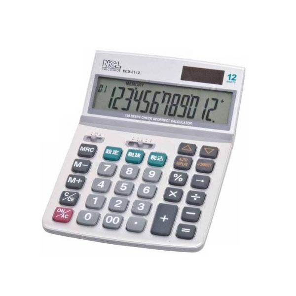 ナカバヤシ 電卓デスクトップ多機能タイプM ECD-2112S