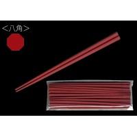 大黒工業 SPS製リユース箸 22.5cm 八角 朱 100膳(10膳入×10個) 3771185