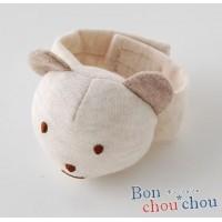 P9370 Bon chouchou(ボンシュシュ) ガラガラリストバンド ベージュ