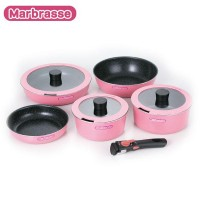 Marbrasse(マーブラッセ) IH対応 着脱式ハンドル鍋・ディープパン・フライパン 5点セット MM-9518(1033588)