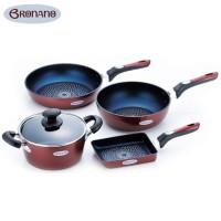 BRONANO(ブラナーノ) IH対応 鍋&フライパン 4点セット BM-9531