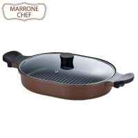 MARRONE CHEF(マローネシェフ) IH対応 オーバルスチームグリラー MM-9544