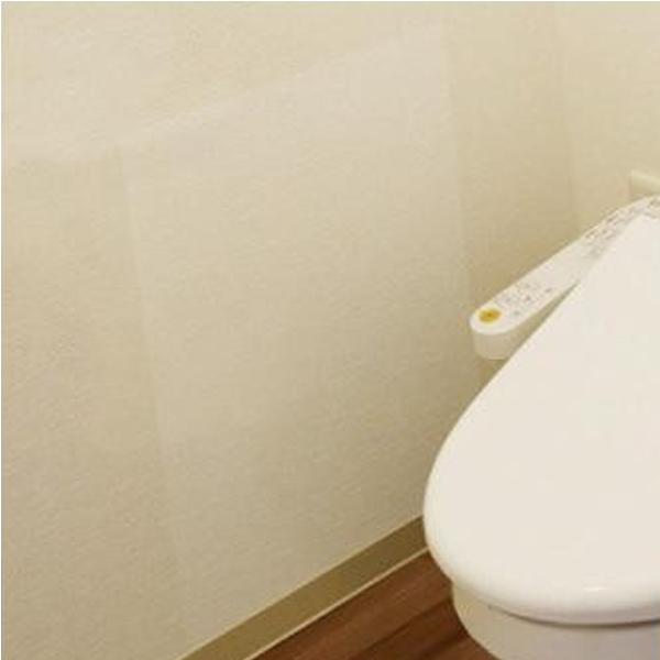 防水保護シート トイレ壁用 40cm×50cm 2枚入 TO(透明) BKW-4050