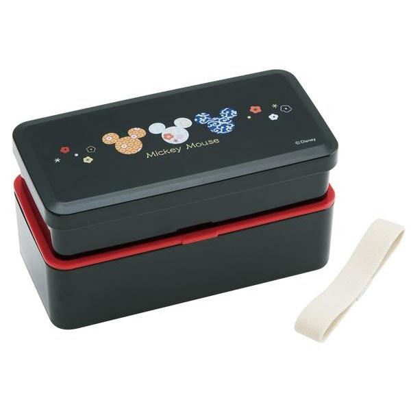pos.237140 松花堂2段弁当箱(ベルト付) ミッキー和風 LS5