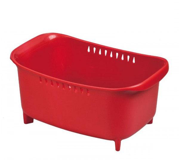 パール金属 モデルノ 洗い桶(レッド) HB-1974