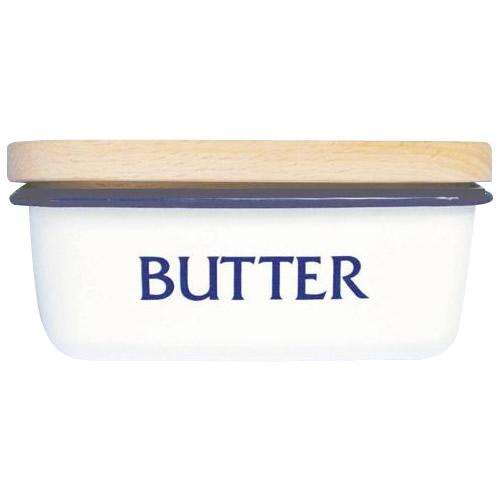 Lilly Whiteリリーホワイト ホーローバターケース「BUTTER」 E-039-BL