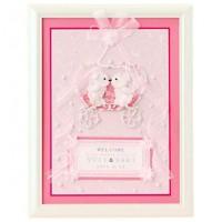 パナミ ウェディング クラウンベアのウェルカムボード ピンク 作品(完成品) HW-21
