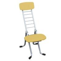 ルネセイコウ リリィチェアM(折りたたみ椅子) ナチュラル/シルバー 日本製 完成品 CSM-320TA