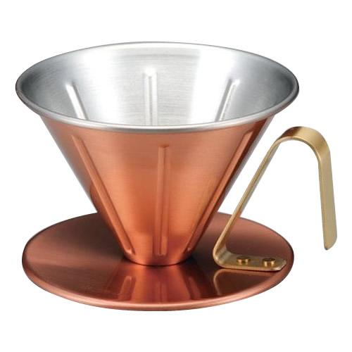 銅のコーヒードリッパー リブ 4246