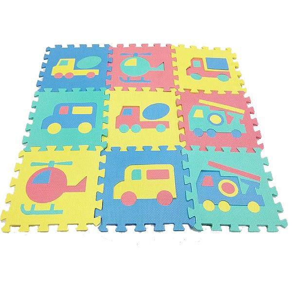 ジョイントマット ファニーパズルマット 乗物 324枚(9種×36セット) WJ-706