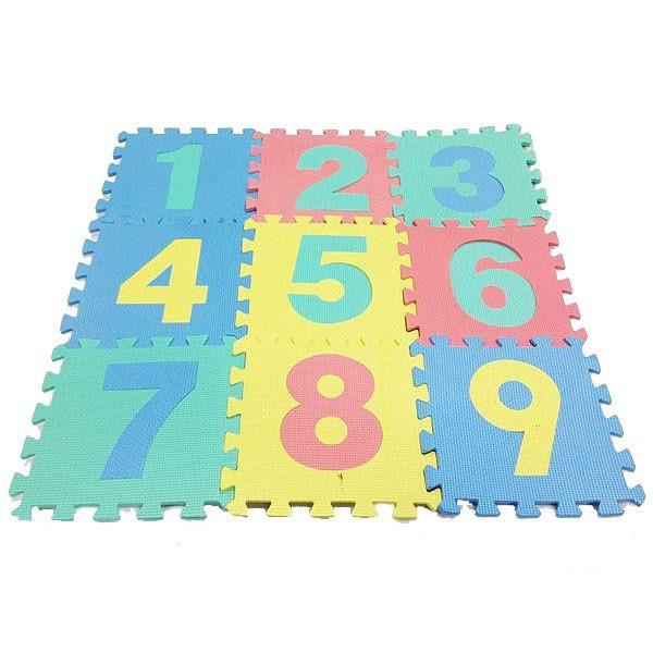 ジョイントマット ファニーパズルマット 数字 324枚(9種×36セット) WJ-638