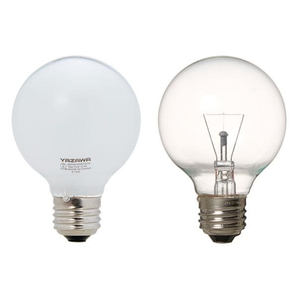 YAZAWA(ヤザワコーポレーション) 長寿命 ボール電球 40W形 Φ70mm ホワイト・GW100110V38W70L