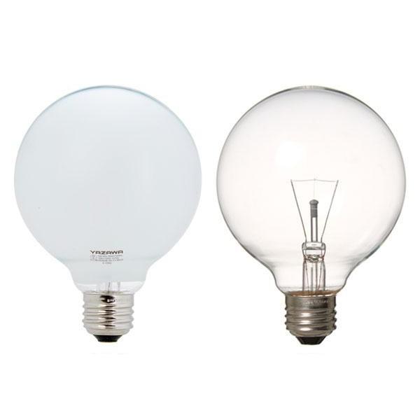 YAZAWA(ヤザワコーポレーション) 長寿命 ボール電球 60W形 Φ95mm ホワイト・GW100110V57W95L